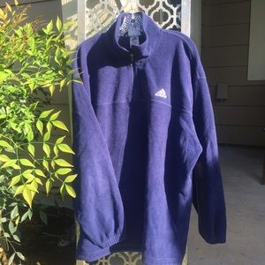 Mens Adidas Fleece Pullover Navy Sz XL